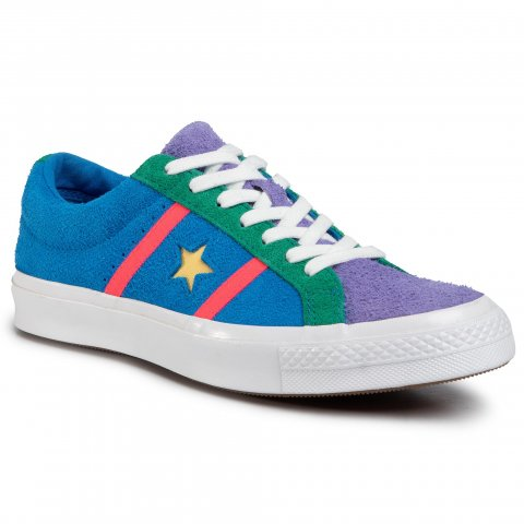 Tenisky CONVERSE - One Star Academy Ox 164392C Totally Blue/Racer Pink/White (46)